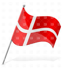 icon of wavy flag of denmark isolated on white background vector