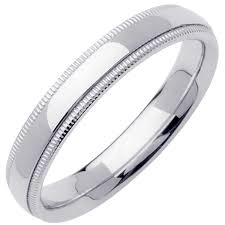wedding ring depot platinum milgrain plain band 4mm 3000046 shop at wedding rings