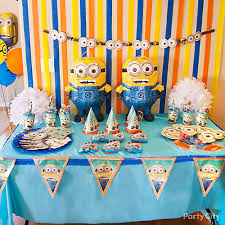 minions birthday party ideas despicable me minions party ideas party city