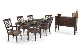 7 pc dining room set woodmark 8 dining set bobs discount furniture within 7 pc