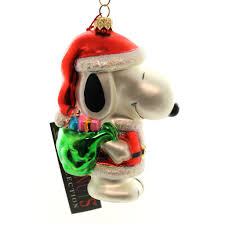 polonaise ornaments santa snoopy glass ornament sbkgifts