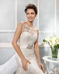 illusion neckline wedding dress 2014 collection best selling illusion neckline covered button