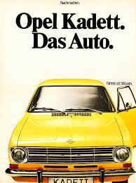 opel car 1965 opel pokes vw and u201cdas auto u201d slogan by celebrating the kadett b