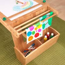 Play Table With Storage by Art Table With Drying Rack U0026 Storage