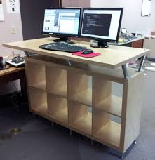 how to make a standing desk in a cubicle best home furniture