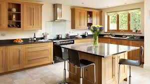 image result for modern farmhouse kitchen oak cabinets kitchen