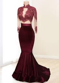 online shop 2017 2 two piece prom dress velvet burgundy dark
