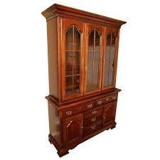 federal style federal style mahogany two piece china cabinet from dixie ebth