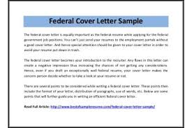cover letter format government