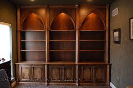 Rta Bookcases Gothic Style Custom Home Office Artisan Custom Bookcases