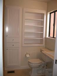 Rustic Bathroom Wall Cabinet Bathroom Building Shelves Between Studs Recessed Storage