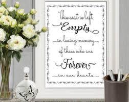 wedding memorial in loving memory of print memorial table wedding memorial sign