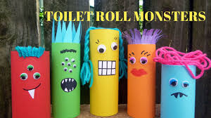 how to make a toilet paper roll monster toilet paper roll crafts