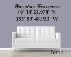 latitude longitude coordinate wall decal personalized with