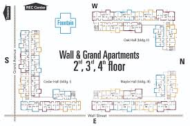 floor plans university housing wall grand apartments 2nd 3rd 4th floor floor plan