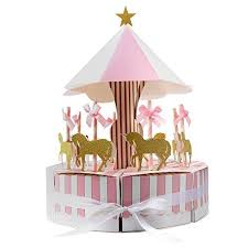 carousel baby shower aytai carousel baby shower candy favor boxes unicorn party