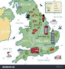Map Of Wales England by Cartoon Map England Stock Vector 528275953 Shutterstock
