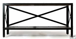 Steel Console Table Console Table Reclaimed Oak U0026 Steel U2013 Real Industrial Edge