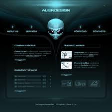 website template 10100 design studio alien custom website