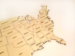 United States Map States by Laser Cut Usa Map United States Map Laser Cut Wood Laser Cut