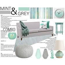 color combo mint grey living room by theartbug home on polyvore