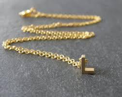 letter l necklace etsy