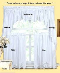 Swag Kitchen Curtains Curtain Tie Backs Diy Valances At Custom Kitchen Curtains Window