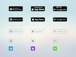 stores badges apple google play windows sketch freebie download