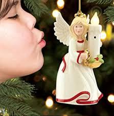 Lenox Christmas Angel Ornaments by Amazon Com Lenox Santa Blow Out The Lights Ornament Home U0026 Kitchen