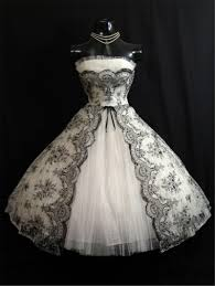 black and white wedding dresses discount vintage 1950s black white wedding dresses 2016 a