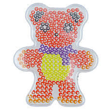 1pcs template clear perler beads pegboard scarf bear pattern for