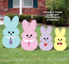 Plastic Outdoor Easter Decorations by Easter Wood Patterns Easter Yard Peeper Family Woodcraft