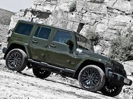 green jeep rubicon kahn reimagines jeep wrangler unlimited in a military green hue