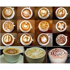 aliexpress com buy 16pcs set coffee stencil cappuccino coffee