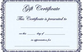 Gift Certificate Word Template Gift Certificate Template Word Templatezet