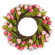 Tulip Wreath Easy Inexpensive And Beautiful Diy Spring Wreath From Thrifty