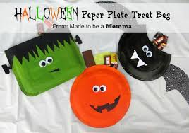 halloween paper plate treat bag kids craft contributor sugar