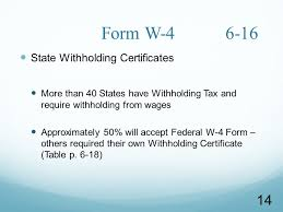 W 4 Withholding Table Withholding Taxes Kathleen L Mizejewski Cpp Gba March 22 Phone