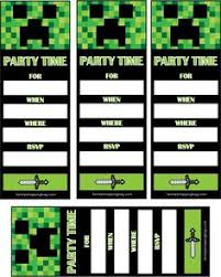 free printable birthday invitations minecraft free printable minecraft birthday party invitation kids parties