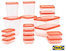 ikea pruta set 17 pcs high quality plastic transparent food