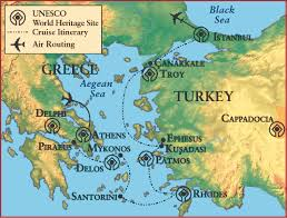 Ancient Map Of Greece by Uk Alumni Association Island Life In Ancient Greece And Turkey