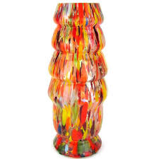 Bohemian Vase Orange Bohemian Confetti Art Glass Vase Ruby George For