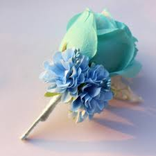 blue boutonniere online shop ivory white yellow blue wedding flowers groom