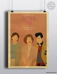 pretty in pink john hughes minimalist movie poster