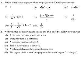 class 9 important questions for maths u2013 polynomials aglasem schools