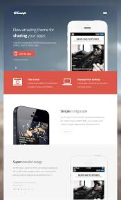 themes for mobile apps bluap responsive app wordpress themes for mobile ipad tablet
