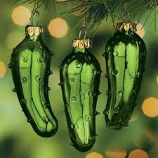 pickle ornament 3 pack green glass tree ornaments