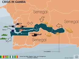 Gambia Africa Map by Gambia U0027s President Elect Takes Oath At Senegal Embassy