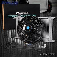 oil cooler fan kit universal 25 row 10an engine transmission oil cooler 7 electric