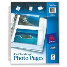 Photo Album Page Inserts 4x6 Photo Pages Ebay